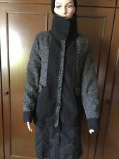 Lengthened fashion jacket ORO E ARGENTO Woman black-gray, size L Giacca Donna