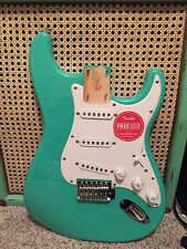 Fender Squier Stratocaster BODY Strat Surf Green - Loaded 2017! w/ neck plate!