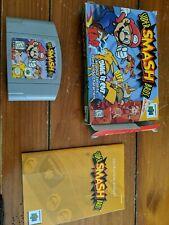 Super Smash Bros. Brothers (Nintendo 64, 1999) N64 complete cib