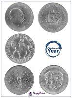 BRITISH CROWNS QEII ELIZABETH - 1965,1972,1977,1980,1981 - CHOICE OF YEAR/DATE