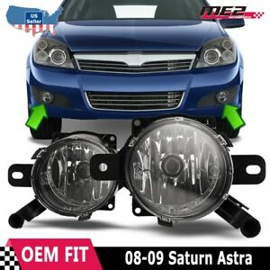 Fits 08-09 Saturn Astra Clear Lens PAIR Bumper Replacement Fog Light Lamp