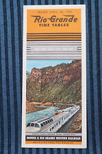 Rio Grande - Time Table - Apr. 28, 1963