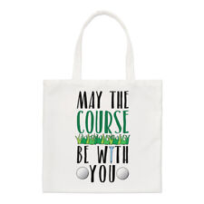 Con usted se May The Course Small Tote Bag-Golf Día del Padre hombro