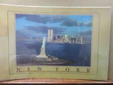 Vintage Poster New York twin towers 1980's Car Garage Inv#G1260