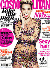 COSMOPOLITAN Magazine UK December,Miley Cyrus NEW