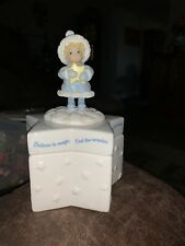 "Hallmark Ceramic Treat Star Box 6.5"" Tall, ""Believe In Magic, Feel The Wonder"""