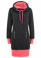 Womens Ladies Bonprix Jersey Sweatshirt Jumper Dress Black Size UK Small NEW