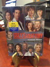 GREY'S ANATOMY - The Complete Third Season (DVD, 2007, 7-Disc Set) Mfg. Sealed