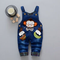 Toddler Baby Boys Clothes Denim Trousers Jeans Children Boy Long Pants Overalls