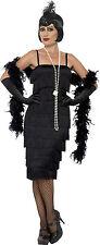 Smiffys Kostüm Charleston Kleid Damen schwarz Fasching/karneval s