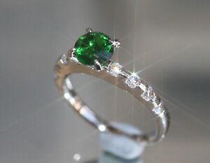 0.8ct Brilliant Created Emerald & Diamond Eternity Ring,Available Size K,M,O,Q