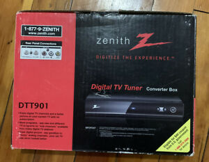 Zenith DTT901 Digital TV Tuner CONVERTER BOX Remote Cables Manual Never Used