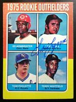1975 Topps Fred Lynn Authentic Signed Autograph Red Sox Rookie Card RARE
