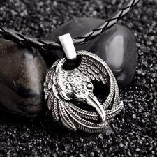 Norse Retro Vikings Odin's Ravens Symbol Pendant Necklace Jewelry Huginn Muninn