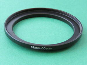 52mm-60mm Stepping Step Up Male-Female Lens Filter Ring Adapter 52mm-60mm