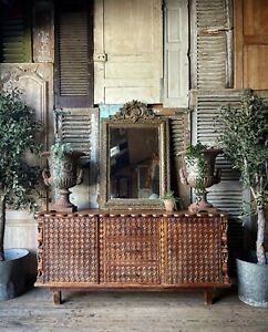 Heavily Carved French Oak Sideboard - Outstanding Piece!