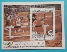 """Mauretanien: Michel Block-Nr. 58 """"Olympische Spiele´84"""" aus 1984, gestempelt"""