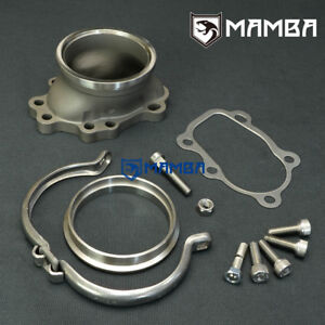 """MAMBA 5 bolt to 3"""" V-band Dump Pipe flange For Nissan CA18 SR20 TB25 GT28R GT30R"""