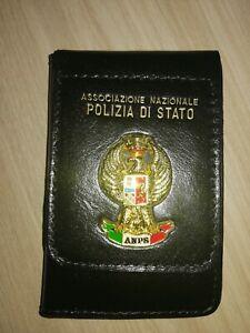 Portafoglio VERA PELLE Associazione Nazionale Polizia