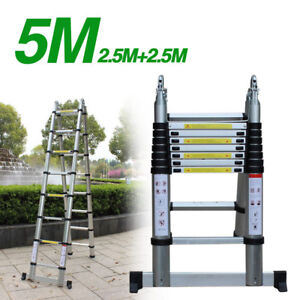 Scala universale in alluminio, richiudibile telescopica, Multifunzione, 5M, DHL