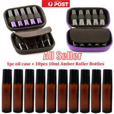 10ml Amber Roller Glass Bottles Essential Oil Case Hold Storage Aromatherapy Bag