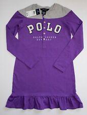 Ralph Lauren Girls Dress Long Sleeve Purple Gray Size S/7/ NWT