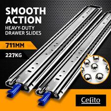 """Cefito Drawer Slides Ball Bearing Heavy Duty Locking Runner 227KG 711mm 28"""""""