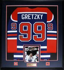 f9918ba1c7f Wayne Gretzky Edmonton Oilers Signed jersey NHL Hockey Frame (blue and  orange)