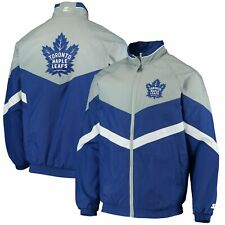 Toronto Maple Leafs Starter The Bench Coach Full-Zip Jacket - Blue/Gray