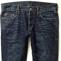 AllSaints Mens Exhaust Iggy Slim Straight Blue Ripped Faded Jeans W30 L32 (573)