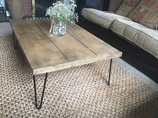 Jacobean Rustic British Handmade Reclaimed wood coffee Hair Pin Leg Coffee Table