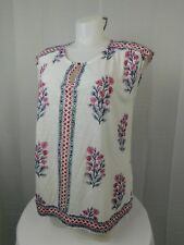 Lucky Brand Plus Size Cap Sleeve Floral Printed Keyhole Top 1X White #5026