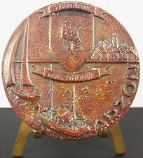 Médaille Arzon Port Navalo Presqu'île de Rhuys Bretagne Morbihan Blason medal
