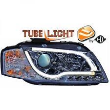 LHD Projector Headlights Pair LED lightbar DRL Clear Chrome For Audi A3 03-08
