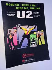 U2 Hold Me Thrill Me Kiss Me Kill Me BATMAN Forever SHEET MUSIC Hal Leonard 1995