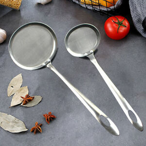 Multi-functional Filter Spoon Stainless Steel Fine Mesh Wire Oil Skimmer Tool
