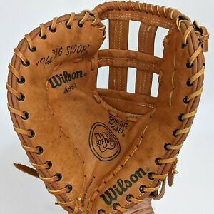 "Wilson ""Big Scoop"" A9883 Softball Left Glove Mitt Leather Optima Gold Series 12"""