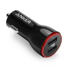 ANKER Car Charger 24W / 4.8A Dual USB PowerDrive 2 for iPhone Samsung LG - BLACK