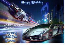 Lamborgini Birthday A5 Card Personalised Son Dad Boyfriend Brother Uncle Nephew