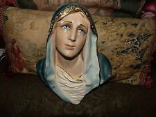 vintage plaster our lady of sorrows wall plaque