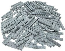 Lego 100 New Light Bluish Gray Plates 1 x 6 Dot Pieces