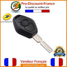 Clé Pour BMW Série 1 3 5 7 X3 X5 Z3 + Lame Vierge Coque plip télécommande