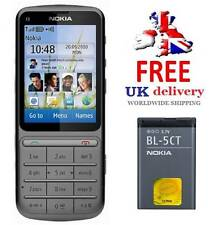 New Condition Nokia C3-01 Warm Grey 3G Unlocked Touch & Type Mobile 5 MP Camera