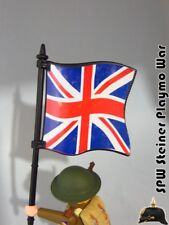 BANDERA GRAN BRETAÑA JACK UNION BITISH FLAG PLAYMOBIL SOLDADO NO INCLUIDO
