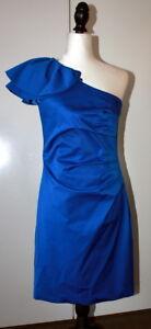 Ojay royal blue one shoulder dress size 10 USED