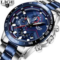 Business Analogue 2021 Fashion Stainless Steel Sports Waterproof Luminous Watch