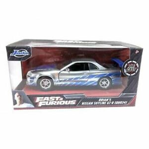 1:32 Brian's Nissan Skyline R34 GT-R Silver/Blue -- Fast & Furious JADA