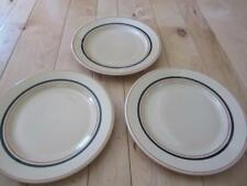 ALBERT PICK LIBERTY VITRIFIED RESTAURANT WARE THREE DINNER PLATES TAN BLACK