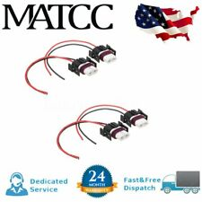 4x H11 Bulbs Lights Female Wire Connector Ceramic Plug Socket Fog Headlights US