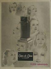 PUBLICITE F. MILLOT PARFUM CREPE DE CHINE PORTRAIT FEMME SIGNE AGOSTINI DE 1938